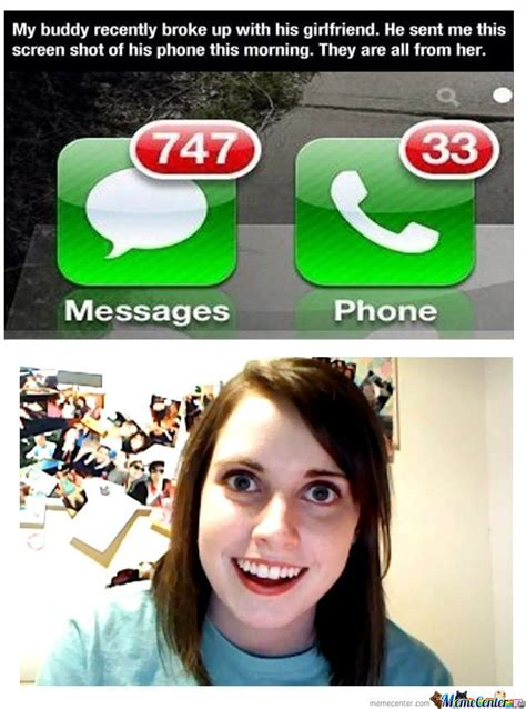 The Overly Attached Girlfriend Meme - overly attached girlfriend by multivitamin meme center