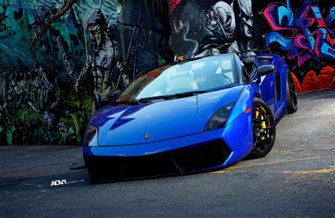 car lamborghini blue blue lamborghini gallardo lp560 4 spyder with black adv 1
