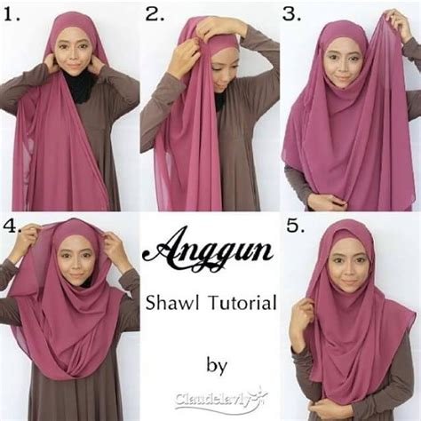 hijab tutorial waffaa shawl 17 best images about hijab tutorial on pinterest simple