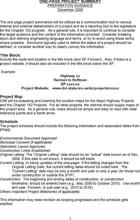project summary templates download free premium