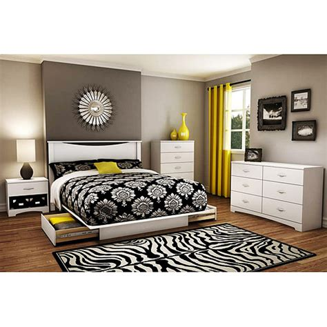 south shore soho 4 piece complete bedroom set value bundle