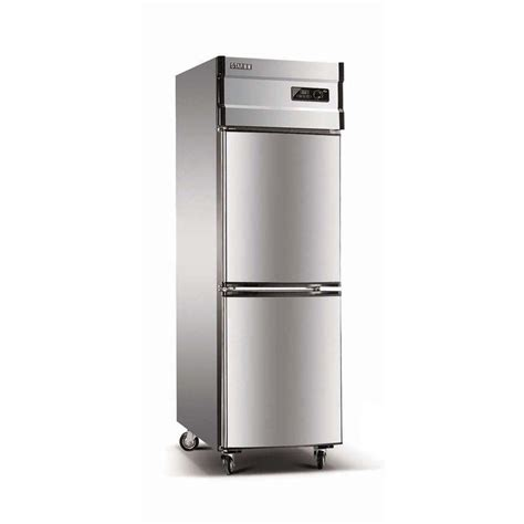2 Door Freezer 340l upright stainless steel 2 door freezer