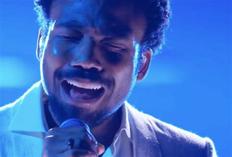 childish gambino ending childish gambino sings terrified at 2018 grammys video