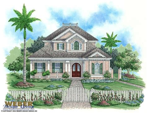 key west style home plans key west house plan florida house plan weber design group