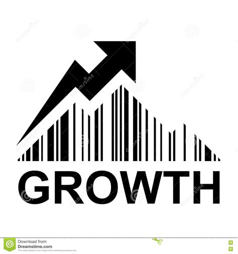 symbol of growth ean barcode mountain growth profit symbol stock vector