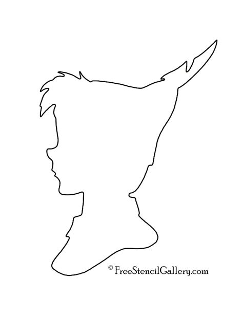 Peter Pan Silhouette 02 Stencil Free Stencil Gallery Pan Silhouette Template