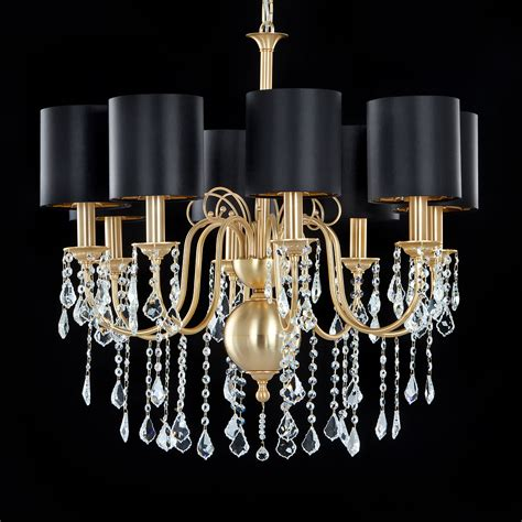 High End Chandeliers High End Swarovski Gold Chandelier
