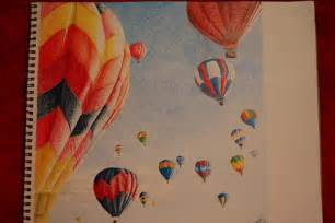 air balloon pencil drawing air balloons color pencil drawing it s my goal to
