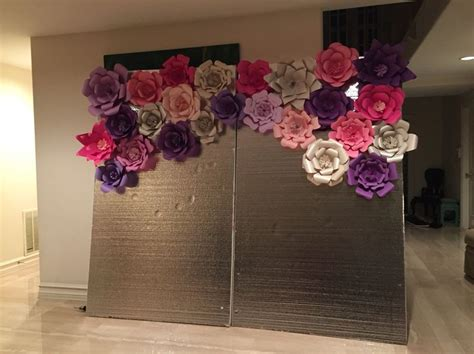 Handmade Backdrops - paper flower backdrop for birthday enchanted