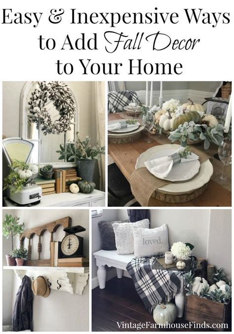 Cheap Easy Ways To Decorate Your Home Easy And Inexpensive Ways To Add Fall Decor To Your Home Vintage Farmhouse Finds