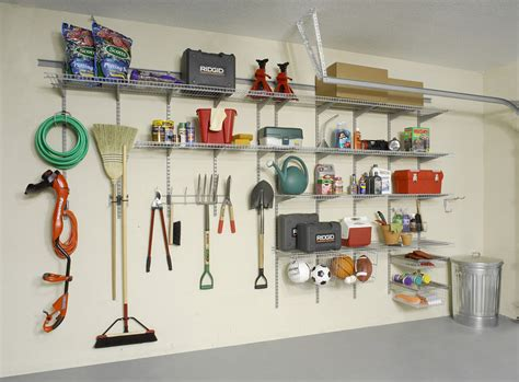 Closetmaid Garage Shelving Turn A Garage Wall Into An Organized Center For Tools