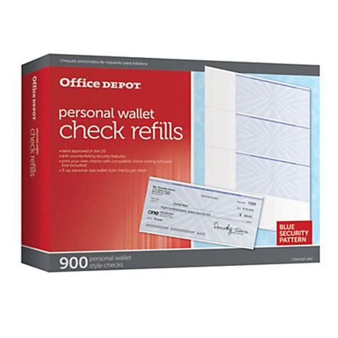 Office Depot Background Check Office Depot Brand Personal Check Refill Pack 3 Part Pack Of 300 By Office Depot