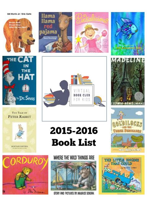 list of picture books book club for 2015 2016 book list