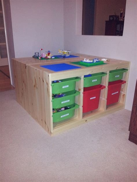 Play Table With Storage by Lego Table For A Play Room Ikea Trofast Storage Why Didn T I Think Of This Gotta Get