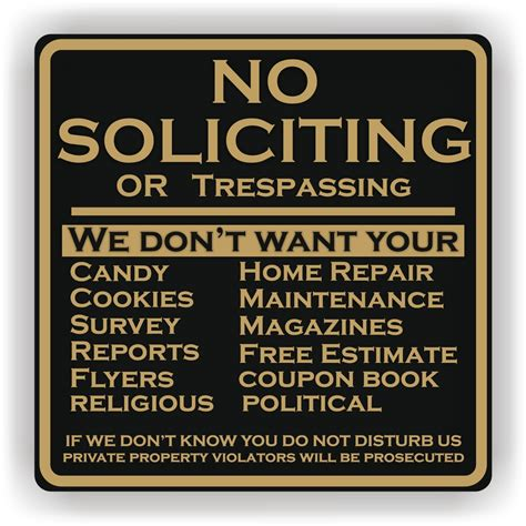 no soliciting signs printable images