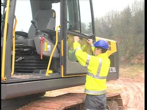 operating instructions volvo digger care cab  series excavators youtube