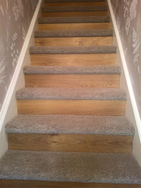 oak laminate flooring to riser thick saxony on treads