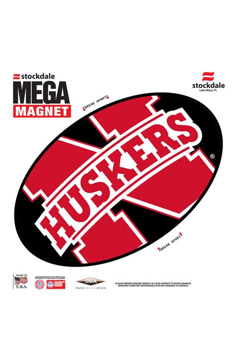 nebraska colors nebraska cornhuskers team color magnet 16371147