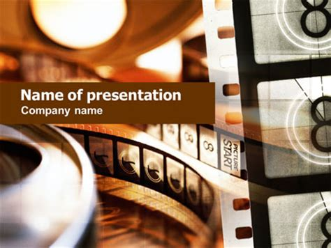 movie reel presentation template for powerpoint and
