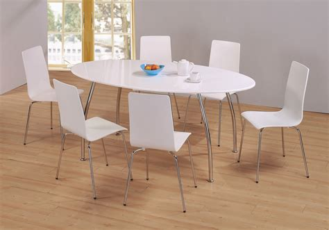 white chairs for dining table white gloss dining table and chairs marceladick