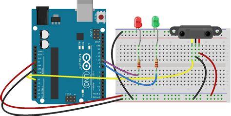 arduino code distance sensor proximity gp2y0a21yk distance sensor with arduino