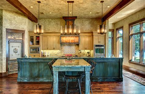 Metal House Plans With Wrap Around Porch ranch style by the lake rustic kitchen houston by