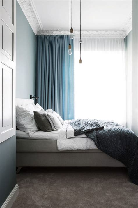 what element is grayish blue and soft luxurious glam nordic apartment in blue shades digsdigs