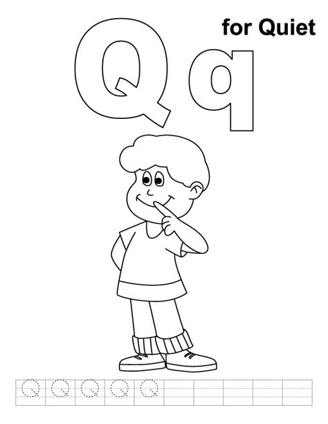 coloring pages for q letter q coloring pages az coloring pages