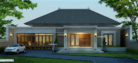desain depan rumah bali desain villa bali 1 lantai i teras rumah taman kolam