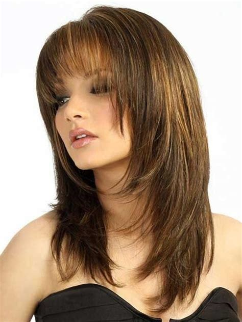 rounded layer haircuts long haircuts for round faces layered www pixshark com