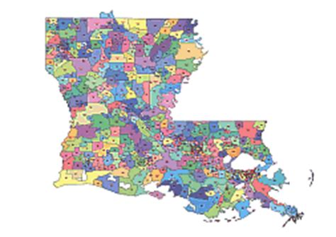 louisiana map by zip code louisiana zip code map map