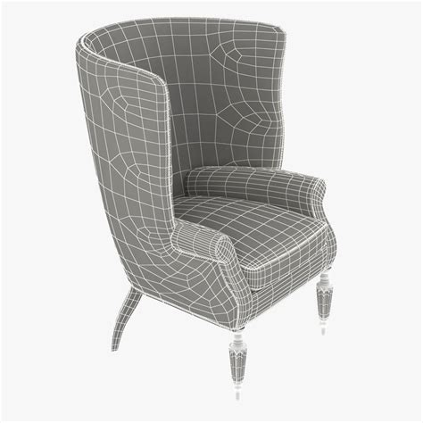 hagan wingback chair the wainscott wing chair by hagan 3d model max
