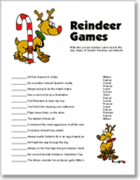 printable reindeer games printable christmas party games and free christmas holiday