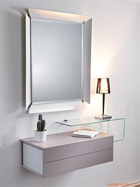 mobili da ingresso calligaris due mobile ingresso con 2 cassetti specchio e mensola