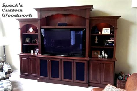 Handmade Cherry Entertainment Center Bookcase By Speck Entertainment Centers With Bookshelves