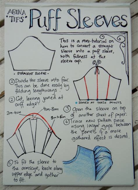 pattern making how to puff sleeve tutorial patrones pinterest