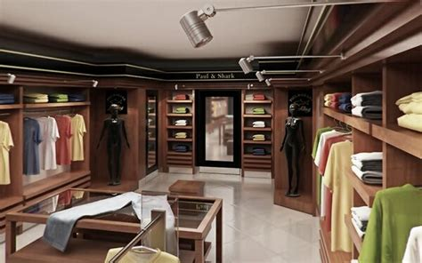 men  women clothing shop store interior  model cgstudio