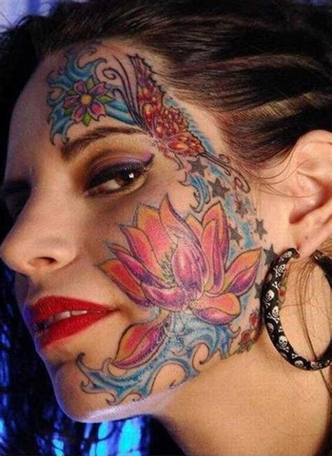pretty face tattoo designs ideas on best 2015 designs and