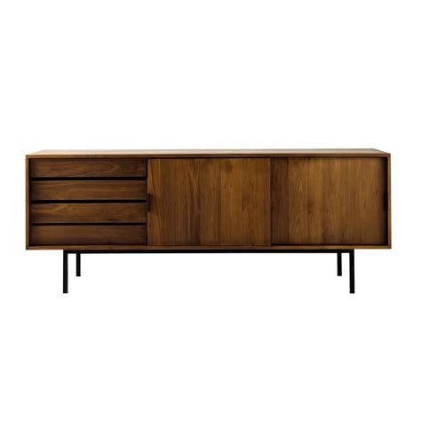 Solid Walnut Sideboard solid walnut sideboard w 200cm berkley maisons du monde