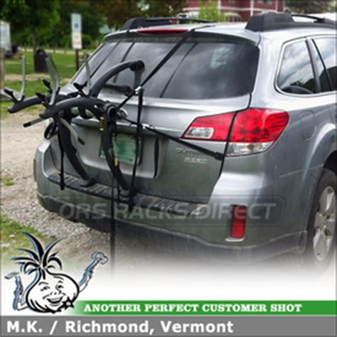 volvo cycle carrier saris 805 bones 2 bike bicycle trunk car rack on