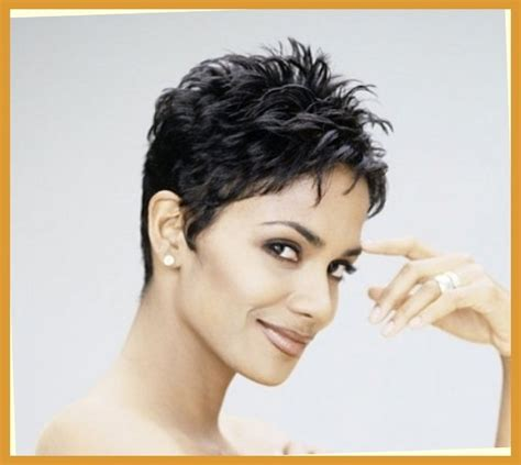 back view of halle berry hair short hair styles helen s style throughout elegant halle