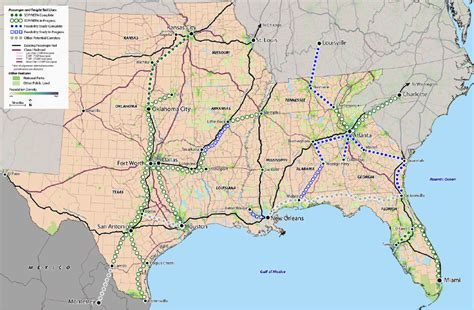 map louisiana alabama florida 2014 southeast multi state passenger rail workshop