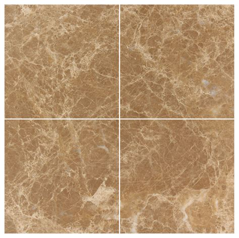 light emperador marble 6x6 polished wall and floor tile contemporary tile new york by