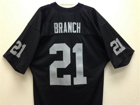 raiders jersey cliff branch raiders jersey 21 black authentic sports memorabilia