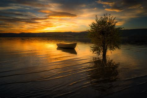 photography lake boat hd photography  wallpapers