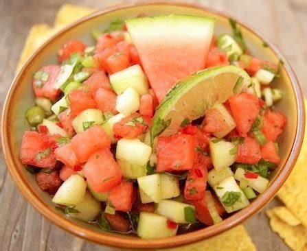 the vegetarian voyager easy recipes for the culinarily challenged books watermelon cucumber salsa recipe weekend recipes