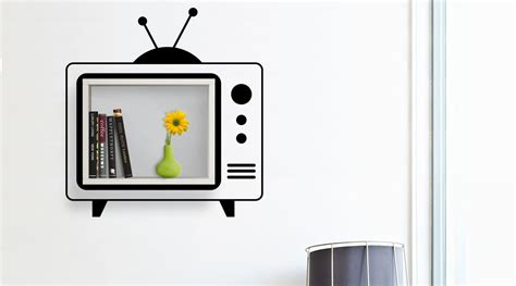 mensola tv mensola tv stickerli duvar rafi vivense