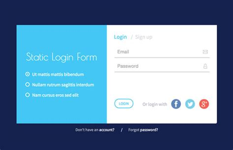 image gallery login page template