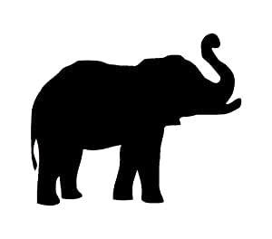 ritrama elefant tier aufkleber auto truck bumper window