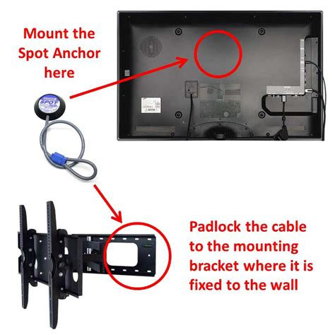 tv lock security kit monitor tv lock tv theft prevention tv cable lock